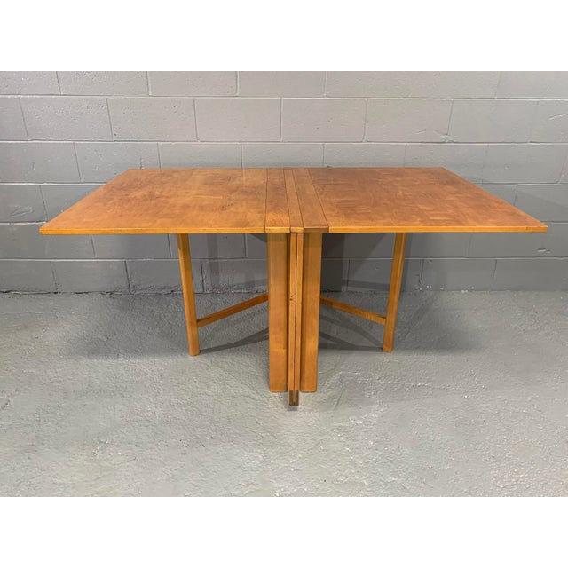 Flamed Birch Maria Folding Dining Table by Bruno Mathsson for Karl Mathsson For Sale In Boston - Image 6 of 13