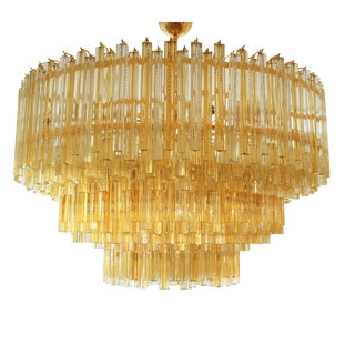 "Venini Blown Glass ""Triedri"" Chandelier"