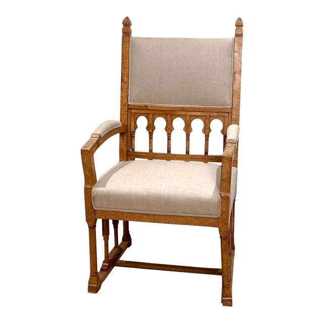 19th Century Gothic Armchair For Sale