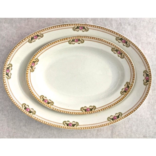 1940s 1940's Vintage English Serving Platters- A Pair For Sale - Image 5 of 5