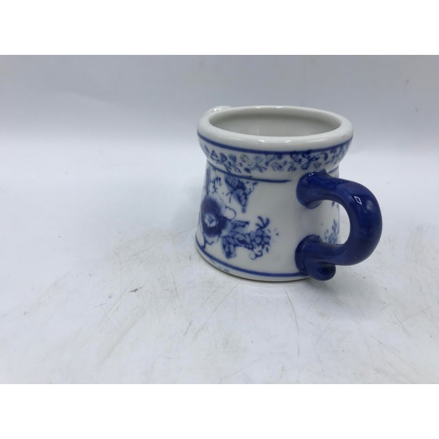 Blue and White Miniature Watering Can Sculpture For Sale - Image 4 of 7