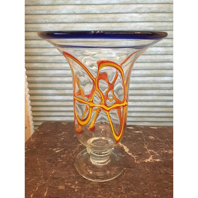 Primary Color Art Glass Vase - Image 6 of 9