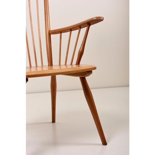 Albert Haberer Wingback Armchair in Solid Wood, Germany, 1950 For Sale - Image 11 of 13