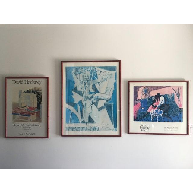 """David Hockney """"Still Life, Taj Hotel, Bombay"""" Exhibit for Grey Art Gallery at NYU 1980 Printed in England Framed..."""