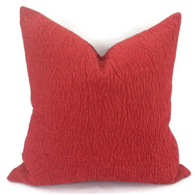 Not Yet Made - Made To Order Donghia Rugoso Puckered Chenille Pomodoro Red Pillow Cover For Sale - Image 5 of 5