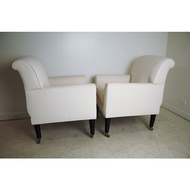 Ralph Lauren White Club Chairs - A Pair - Image 3 of 5