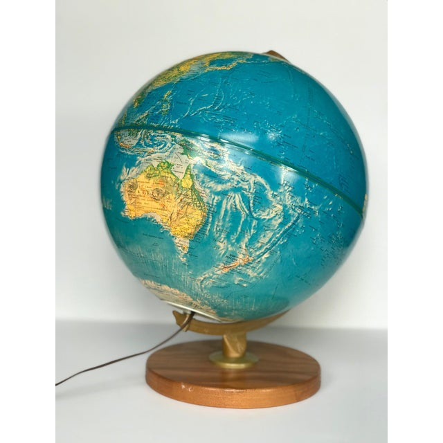 American Vintage Late 20th Century Globe Light For Sale - Image 3 of 10