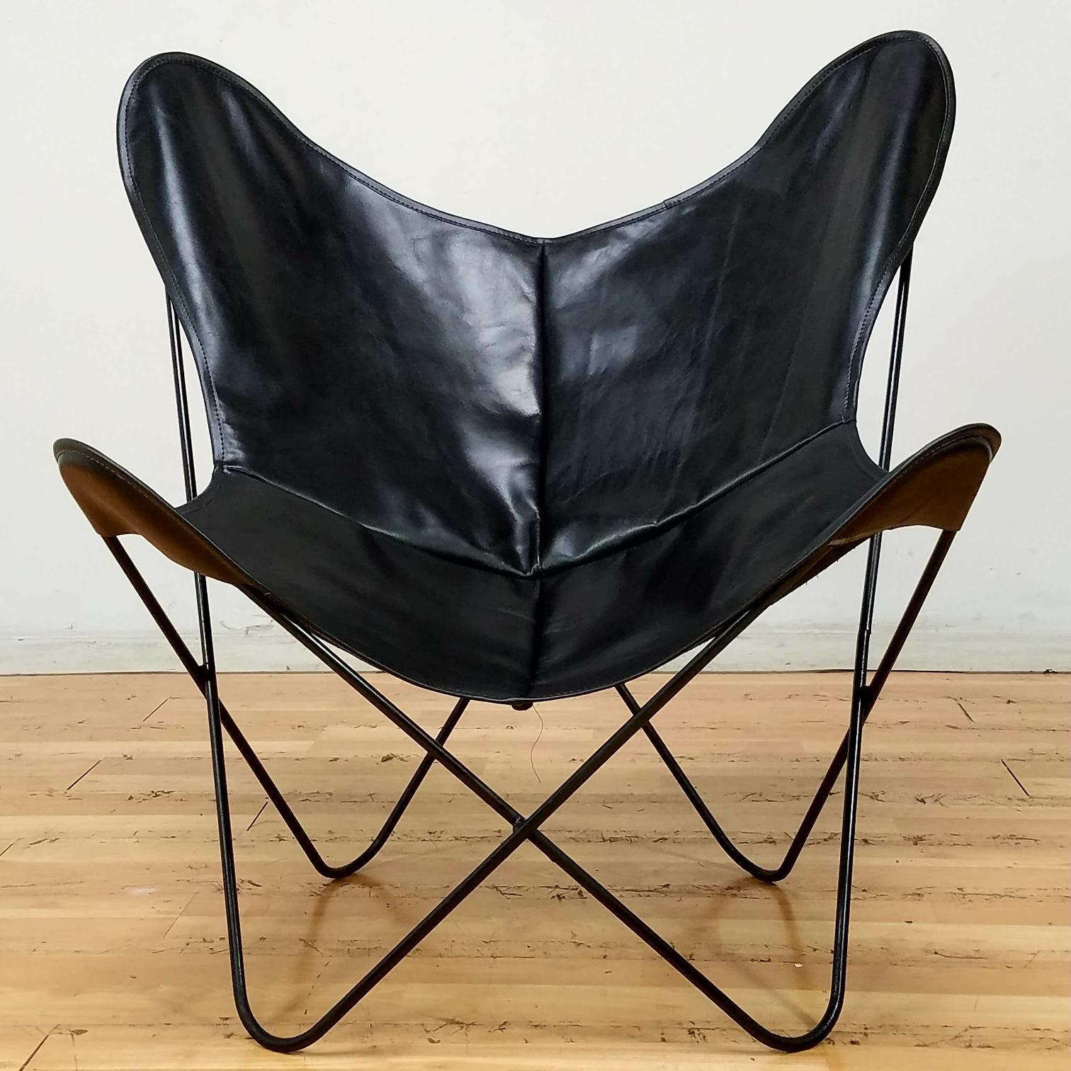 Elegant Hardoy Mid Century Butterfly Chair   Image 2 Of 4
