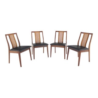 Set of Four Danish Mid-Century Modern Oiled Walnut Side Dining Chairs For Sale