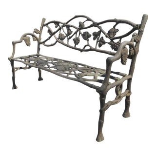 Unique Cast Iron Decorative Bench For Sale