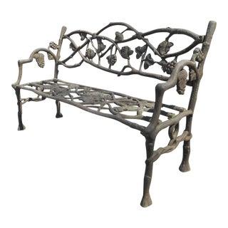 Unique Cast Iron Decorative Bench For Sale