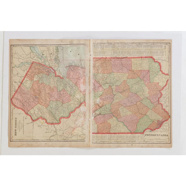 Paper Cram's 1907 Map of Maryland For Sale - Image 7 of 8