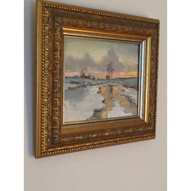 Russian Signed Oil on Canvas Paintings- Set of 2 - Image 5 of 6