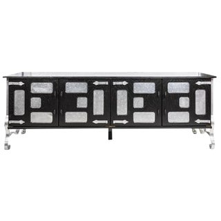 Industrial Black Sideboard Cabinet For Sale