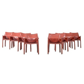 Set of 8 Mario Bellini Dining Chairs For Sale