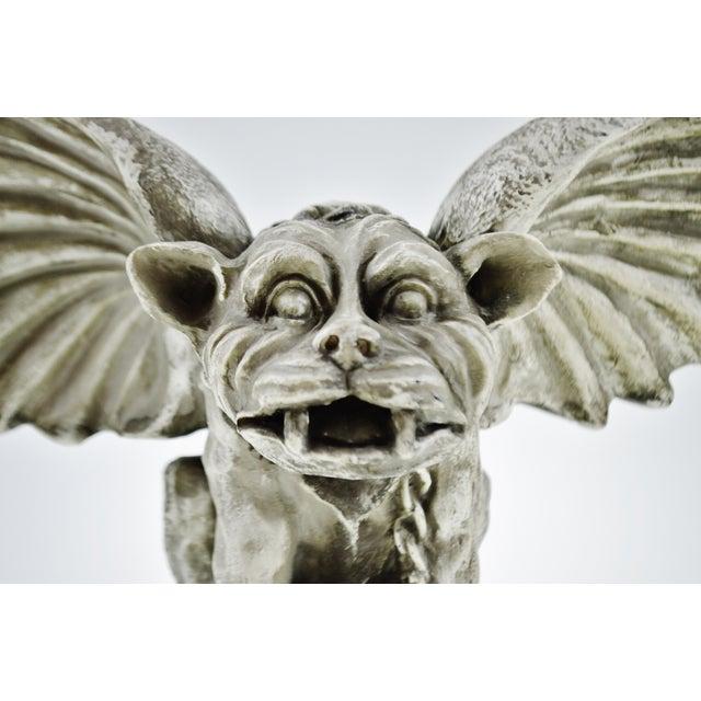 Vintage Gothic Grotesque Gargoyle Winged Dog Statue - Image 3 of 11