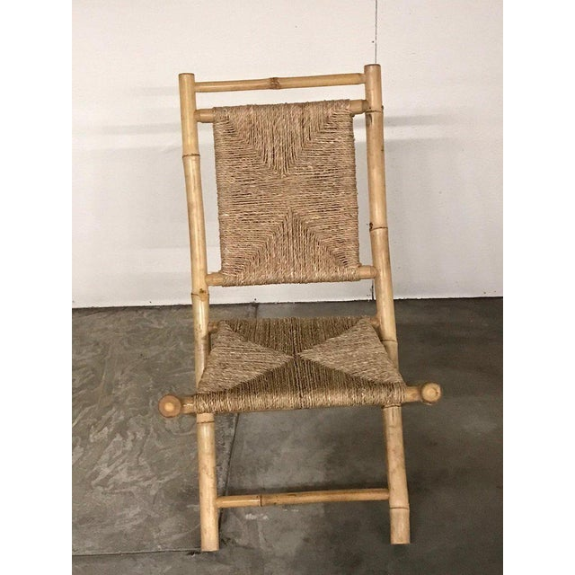 Wood Pair of Faux Bamboo Campaign Chairs in the Manner of Maison Jansen For Sale - Image 7 of 9