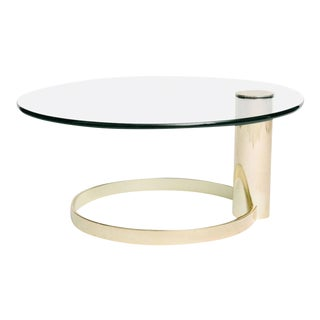 Postmodern John Mascheroni Cantilevered Glass Coffee/Cocktail Table For Sale
