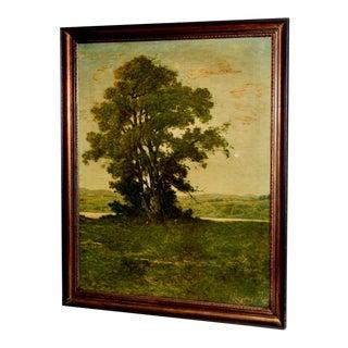 """A Specialty Art Decolage Original Print of """"Landscape Sundown"""" by Henri-Joseph Harpignies C.1950s For Sale"""