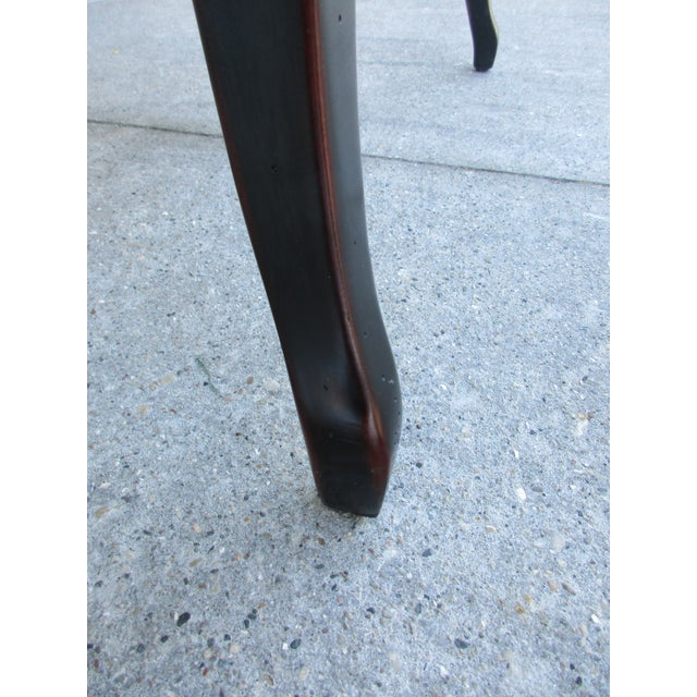 Theodore Alexander Antiqued Black Lacquer Side Table For Sale - Image 10 of 13