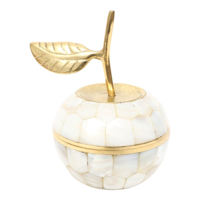 Vintage Mother of Pearl and Brass Trinket Box - Image 1 of 7