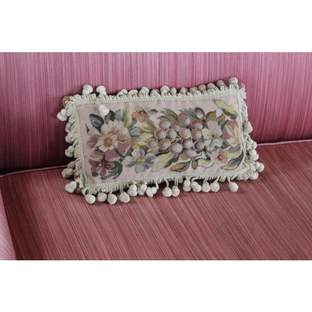 Belgian 19th Century Needle Point Down Lumbar Pillow For Sale - Image 3 of 9