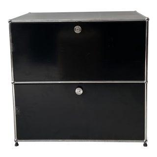 Usm Haller Black 2 Drawer Cabinet For Sale
