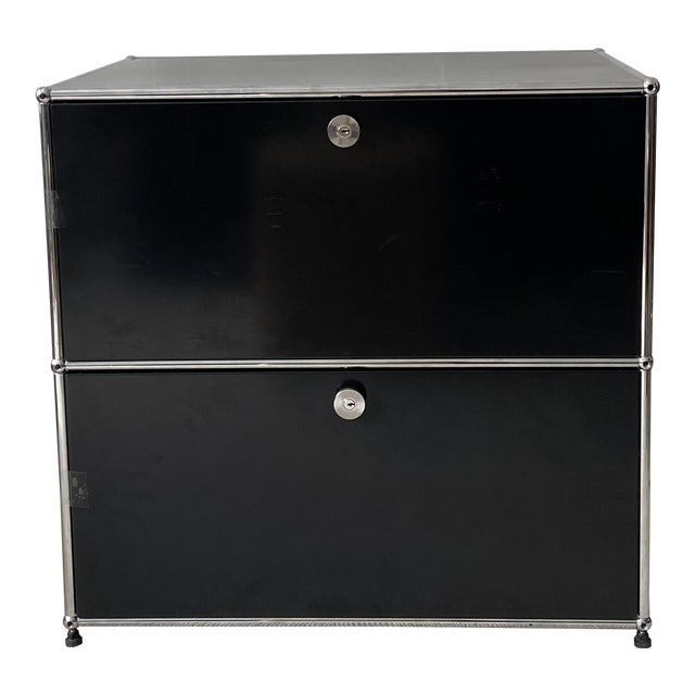 Usm Haller Black 2 Drawer Cabinet For Sale