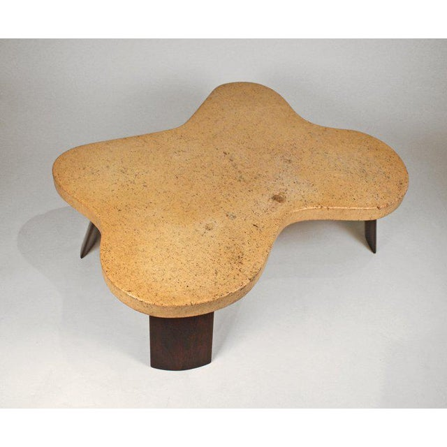 1950s Paul Frankl Cork Top Amoeba Coffee Table for Johnson Furniture For Sale - Image 5 of 10