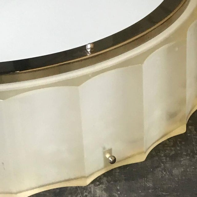 Sirmos Company Large-Scale Lucite and Glass Flush Mount by Sirmos For Sale - Image 4 of 10
