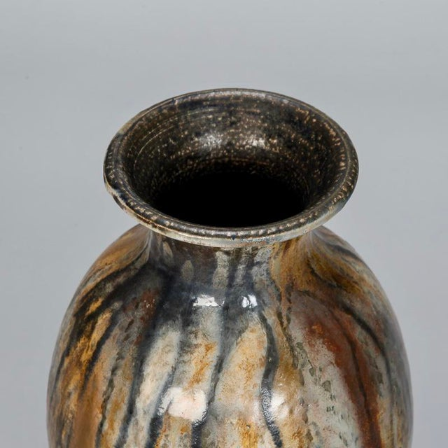 Tall Narrow Signed Roger Guerin Pottery Vase For Sale In Detroit - Image 6 of 8