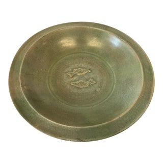Chinese Longquan Celadon Twin Fish Bowl
