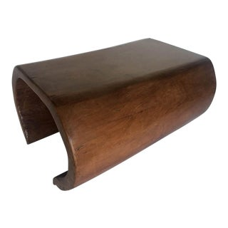 Organic Modern Mahogany Cocktail Table For Sale
