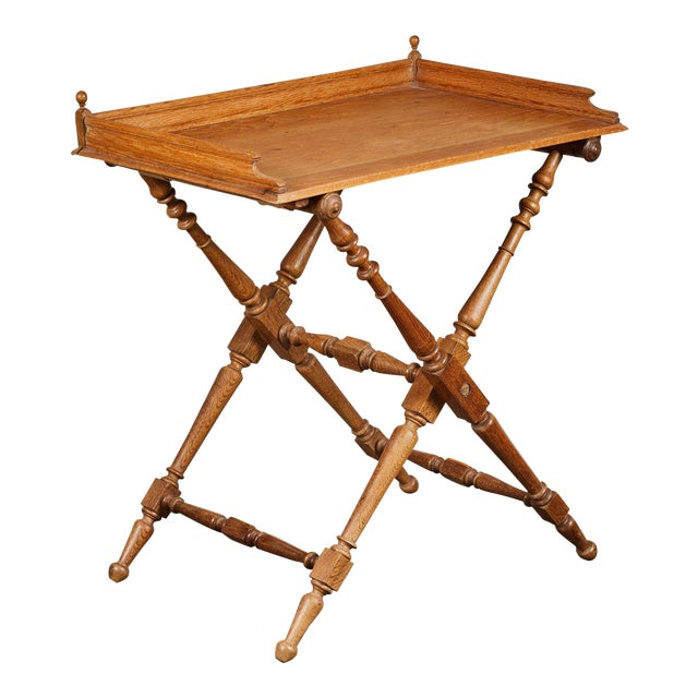 19th Century Oak Butler's Tray Table For Sale