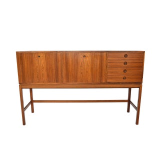 Tall Swedish Modern Credenza in Rosewood For Sale