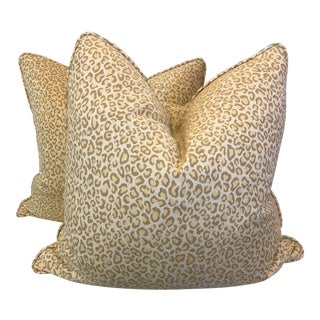 "Cheetah Print 22"" Pillows-A Pair"