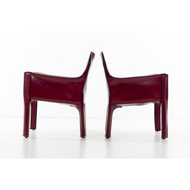 1970s Mario Bellini Cab Lounge Chairs For Sale - Image 5 of 11