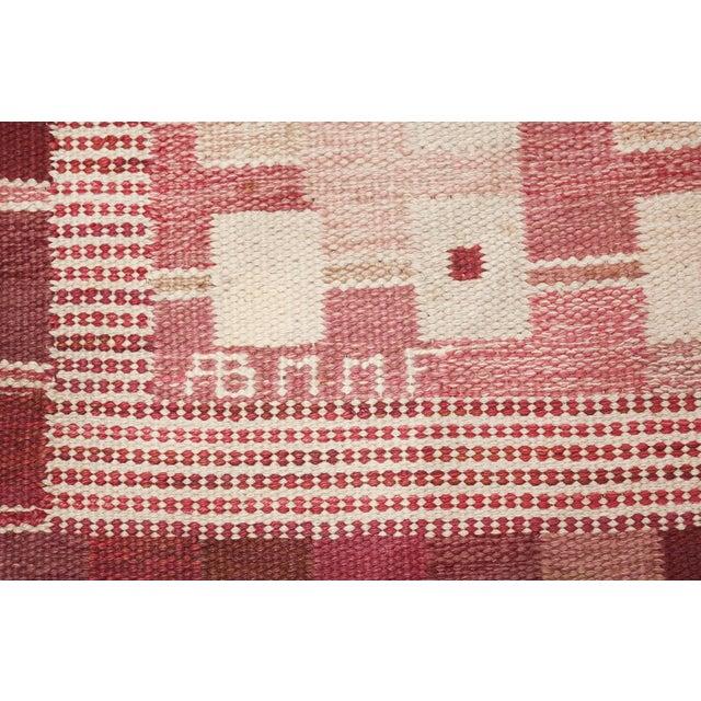 Beautiful vintage Marianne Richter designed Scandinavian rug for Marta Maas, country of origin / rug type: Scandinavia...