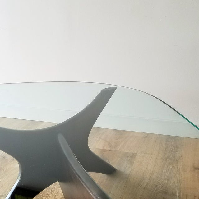 1960s 1960s Adrian Pearsall Model 1465-T Boomerang Walnut Coffee Table, Unmarked For Sale - Image 5 of 13