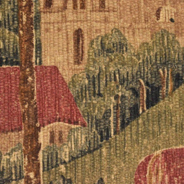 Blue Large Italian Wall Tapestry by Paris Panneaux Gobelins For Sale - Image 8 of 12