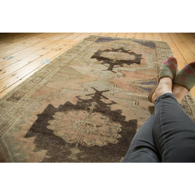 "Vintage Distressed Oushak Rug Runner - 3'7"" x 8' - Image 5 of 10"