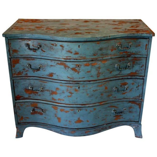 1900 - 1909 1900s Rustic Copper Highlighted Commode For Sale - Image 5 of 5