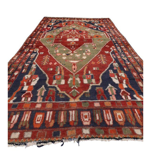 Islamic Vintage Persian Bakhtiari Rug with Modern Tribal Style For Sale - Image 3 of 8