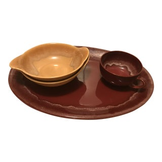 California Heritage Drip Glazed Vernonware - Set of 4