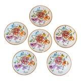 Image of Vintage Gucci Porcelain Wildflower Trinket Dishes - Set of 6 For Sale