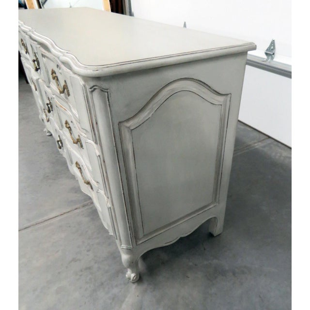 20th Century French Country Painted Decorated Dresser For Sale In Philadelphia - Image 6 of 10