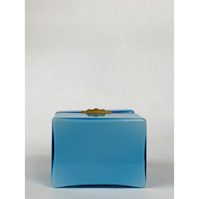 Early 20th Century Turquoise Murano Casket Box For Sale In Chicago - Image 6 of 9