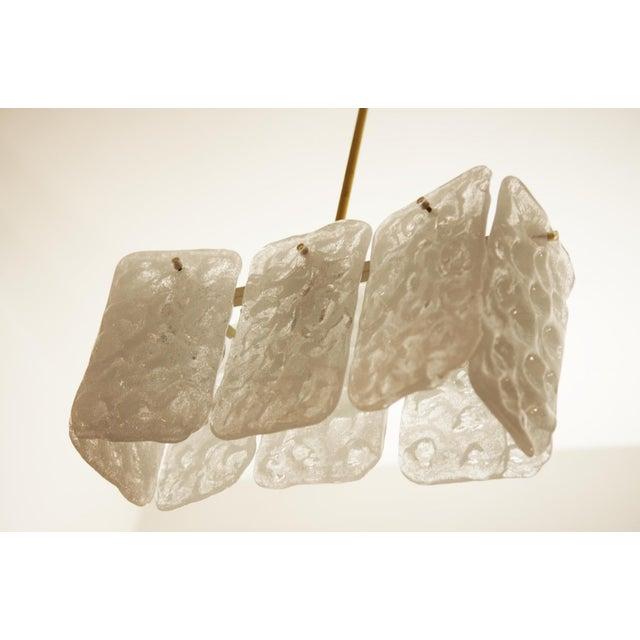 J.T. Kalmar Austrian ice glass chandelier by JT Kalmar For Sale - Image 4 of 5