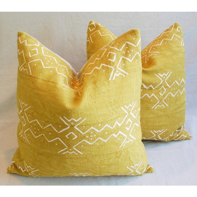 Handwoven Tribal Textile Feather/Down Pillows - Pair - Image 6 of 11