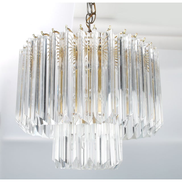 Round Brass & Lucite 11-Light Chandelier - Image 11 of 11